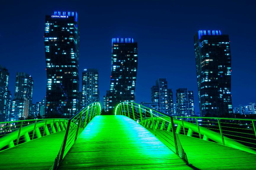 Songdo ist die (künstliche) Stadt der Zukunft.